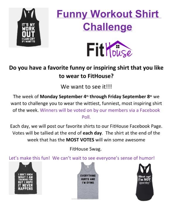 funny workout shirt challenge