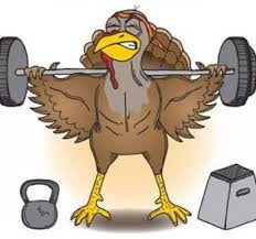 turkey lifting weights